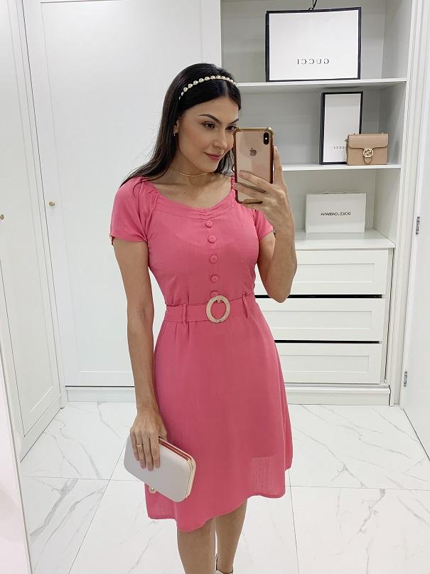Vestido viscolinho liso cores
