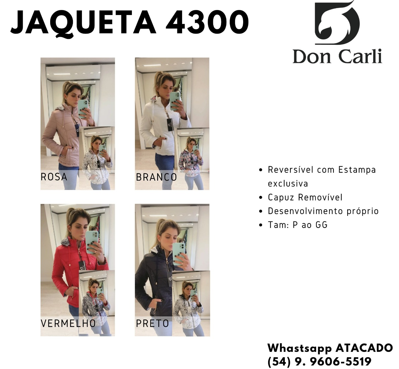 Jaqueta Don Carli 4300