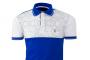 Camisa  polo mc estampada azul