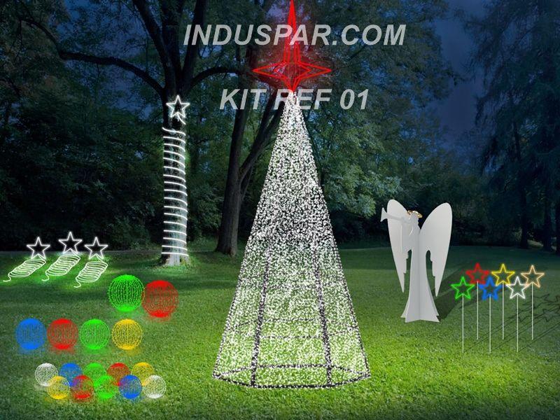 AR-001- Kit Decoração Natalina Jardim Padrão 01 - 28 Peças
