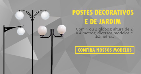 POSTES DE JARDIM DECORATIVOS