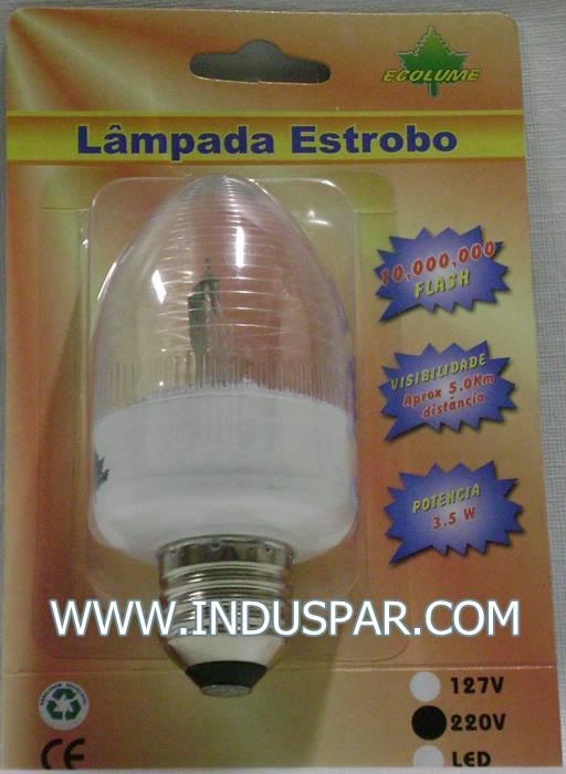 N46-01 - Lâmpada Estrobo Flash Xenon - Rôsca E-27