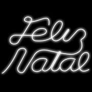 116-FA - Decoração Metálica Iluminada Led - FELIZ NATAL- MED 0,70 X 1,10 mts