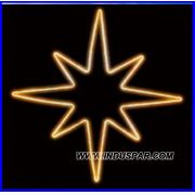 Estrela Iluminada 8 Pontas Simples  200 MTS X 200 MTS