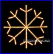 Estrela 8 Pontas Flocos de Gelo - Med 1,50 Mts - Branca Fria