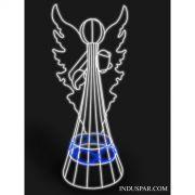 Figura de Natal Iluminada - ANJO MUSICAL 3D LED