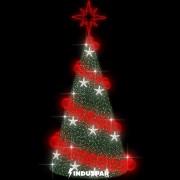 AR-037 - Árvore de Natal Gigante Decorada Esferas e Iluminação Led