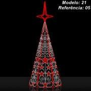 Ref: 021 - Arvore de Natal Gigante Mod 21 Led - Ornatos AR21 -  Altura 5 à 8 Mts