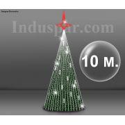 Árvore de Natal Gigante Glamour Led 10 Metros Completa - KIT FÁCIL