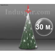 Árvore de Natal Gigante Glamour Led 30 Metros Completa - KIT FÁCIL