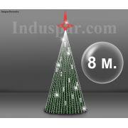 Árvore de Natal Gigante 8 Metros Kit Fácil Led Completa