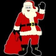 Papai Noel Gigante com Saco de Presentes Iluminado Decoração de Natal Dia e Noite - PN-07-DN Med. 1,80 X 1,33 mts