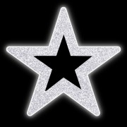 Estrela 5 pontas  50 cm Vazada Brilho Iluminada Led Decora Dia e Noite PN-050/V-DN
