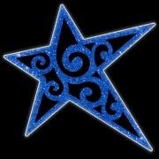 Estrela 5 pontas Eliot Iluminada Led Decoração Dia e Noite PN-014/D-DN