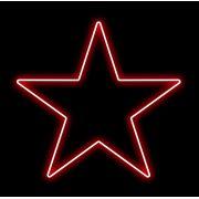Estrela 5 Pontas Iluminada 30cm Vermelha LED 127V