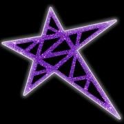016-MD -  Estrela 5 pontas Sudão Colorida - Com ou Sem Iluminação