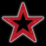 Estrela 5 pontas Vazada Brilho Iluminada Led Decoração Dia e Noite PN-014/V-DN
