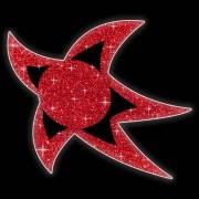 Estrela 5 Pontas Egipcia de Natal Gigante Iluminada LED Decoração Dia e Noite - PN-014/G-DN