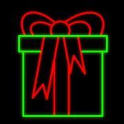 FI-035 - Caixa de Presente Decoração Natal Multiuso  - Tam 1,30 X 1,10 Metros
