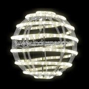 FA134 - Bola de Natal  30 cm Gigante Led Esfera Espiral
