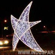 FI-060/175 - Estrela 5 pontas Belga Curva em LED Alto brilho - Tam 175 cm - NOVIDADE