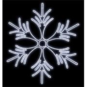 FI-059 - Floco de Neve Metálica Iluminada Led - 1,40 X 1,25 Metros