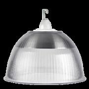 L04- Luminária Prismática 22 Pol Cone e Gancho e Difusor Cristal