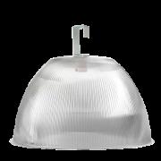 L05- Luminária Prismática 22 Pol Prato e Gancho Difusor Cristal