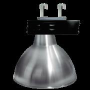 L09- Luminária Caixa Preta Refletor Alumínio 20 Pol