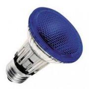 Lâmpada PAR 20 Halógena 50W E27 Azul