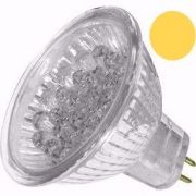 Lâmpada LED  1,3W Dicróica 20 LEDs MR16 Branco Morno Gx6.35