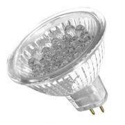 Lâmpada LED  1W Dicróica 18 LEDs JCDR Vermelho 12V
