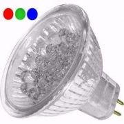 LL04 - Lâmpada Dicróica Led MR16 GX6.35 RGB 18 Led 127V
