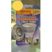 Lâmpada Dicróica Led MR16 E27 3W Branca Morna 3000K 220V