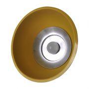 Luminária Prismática 12 Pol Pendente - Cúpula Amarela   LED 18W