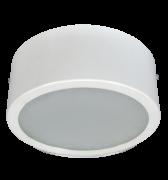 Luminária de Sobrepor de 240MM, Aluminio cor Branca, Redonda Simples, para 2 Lâmpada de 25W