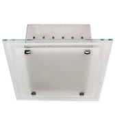 Luminária de Sobrepor Quadrada em Aluminio na cor Branca para 2 Lâmpadas de 20W, Soquete E27