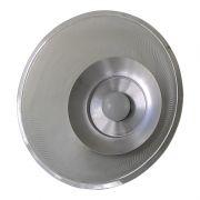 Luminária Prismática 12 Pol Pendente - Cupula Cristal Transparente LED 18W
