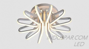 Luminária LED Geométrica 132W Pendente Facho 360º - 13200 Lúmens - SOB-132E-BQ