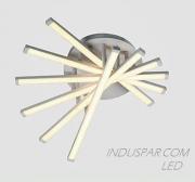 Luminária LED Geométrica 48W Pendente Facho 180º - 4800 Lúmens - SOB-48E-BQ