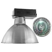 Luminária Prismática 20 Pol Alojamento Caixa Preta  E40 - Com grade