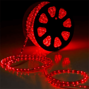 Mangueira 127V Vermelha LED - Luminosa Corda de Natal