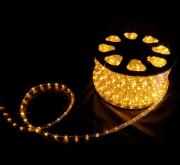 Mangueira 220V Amarela LED - Luminosa Corda de Natal