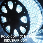 N01-01-100 - Mangueira Luminosa Branca Fria LED Ø 12 mm - 100 Metros