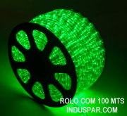 N01-05-100 - Mangueira Luminosa Verde LED Ø 12 mm - 100 Metros