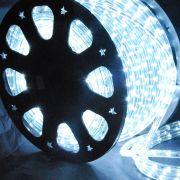 Mangueira 220V Branca Fria LED - Luminosa Corda de Natal
