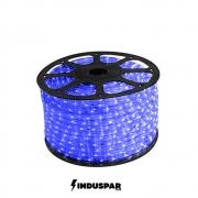 Mangueira Luminosa Led Azul  100 Metros Redonda