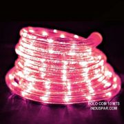 Mangueira Luminosa  Rosa LED - Corda de Natal 10 Metros