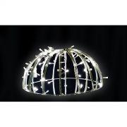 132/070-FA - Meia Bola de Natal  70 cm Meia Face  Esfera Gigante Led