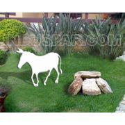 Presépio Modelo Elegance Iluminado Mula Branco - Medidas 0,68 mt x 0,80mt